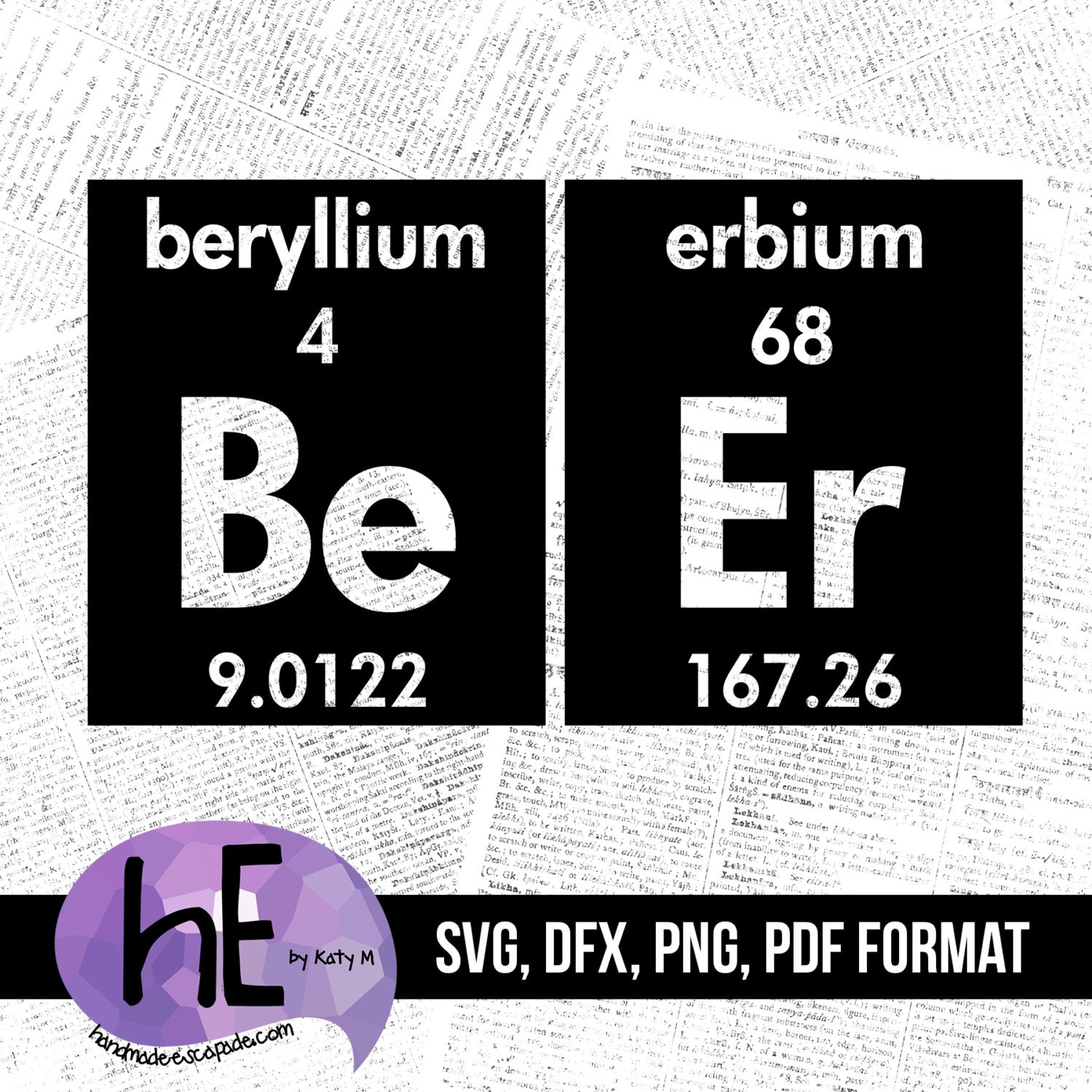 Genius periodic table chemical element cross stitch chart from beer periodic table svg pdf dxf png cut file for use with silhouette cameo cricut vinyl htv decor scrapbooking cardmaking gamestrikefo Image collections