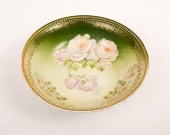 Vintage Hand-painted Bone China Serving Bowl