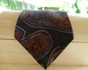 CHRISTIAN DIOR VINTAGE Silk Tie. Spectacular Paisley Print. Imported Silk