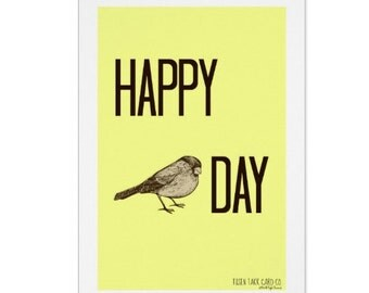 Happy Bird Day Card, Birthday Card, Card For Birders, Funny Card, Friendship Card, Thank You Card, Mom Card, Card for Friend,Bird Lover Card