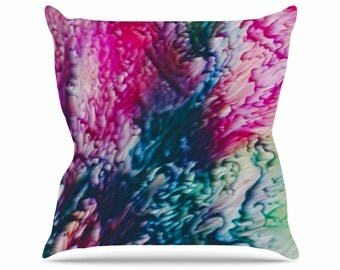 Throw Pillows, Pink and Blue Throw Pillows, Decorative Throw Pillows, Magenta Throw Pillows, Abstract Art, Home Decor, Splash, Art by Malia