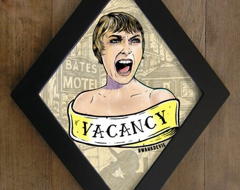 Marion Crane  from Psycho ( Alfred Hitchcock). Vacancy diamond framed print.
