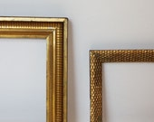 2 Antique Gold Frames/One Honeycomb Pattern/ One Watergilded with Original Finishes/Ready to use c.1900
