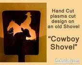 Metal Art Cowboy and Calf...