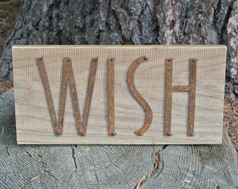 WISH- Reclaimed Wood Sign