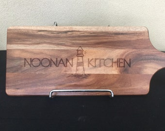 "Super cute lighthouse ""Kitchen"" design. Customised chopping boards just for you! The perfect gift for weddings, birthdays + housewarmin"