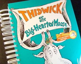Seuss Thidwick Big Hearted Moose blank journal scrapbook planner
