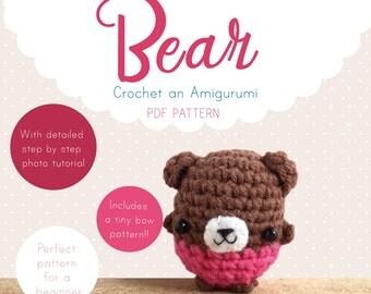 Bear Amigurumi Pattern, Bear Crochet Pattern, Teddy Bear Amigurumi PDF pattern