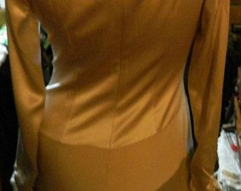 Vintage dress silk beige evening dress vintage