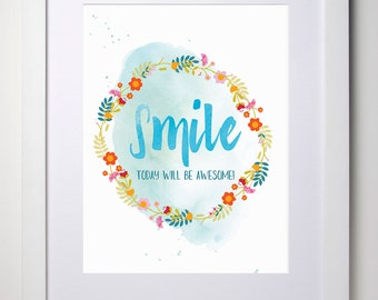 Wall Decor Print (Smile A4 Print)