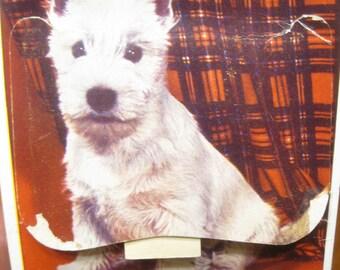 Scottie Dog Postcard , Dog Postcard , London Postcard , White Terrier, Postcards