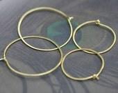 Combo Brass Hoops earrings n.19 - plain raw brass hoops . rustic jewelry . bohemian hoops . boho hoops . boho brass hoops . artisan hoops