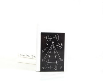 A unique design metal bookend // Mathematics // Scientific bookend for your bookshelf // free world wide shipping