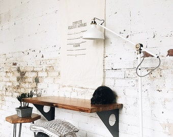 Industrial Modern Reclaimed Wall Mount Slim Writing Desk | Table | Bar