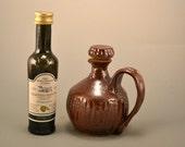 Bellisimo/ olive oil jar /cruet /with handmade stopper/Tuscany/handmade