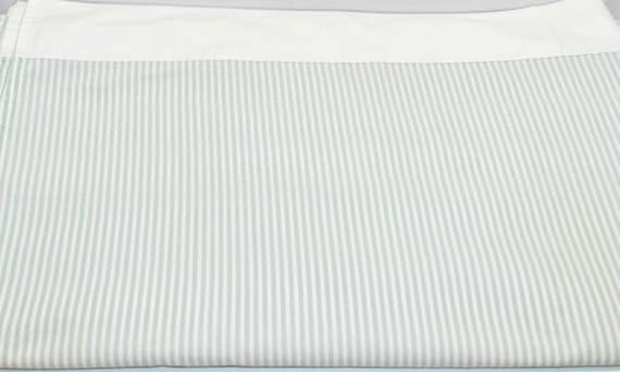 vintage queen size flat sheet by cannon sage green white. Black Bedroom Furniture Sets. Home Design Ideas