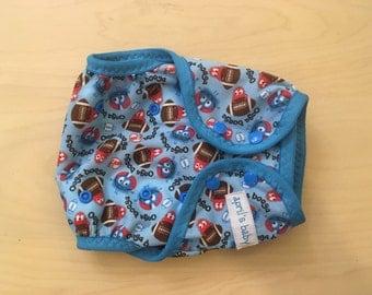 One Size Reusable  swim diaper - little swimmer/cloth diaper cover- football