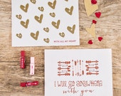 Foil Valentine's Greeting Card  - PACK OF 2