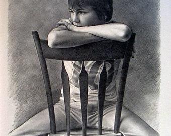 Ken Danby- Girl at a Chair (1976) SKU: GH1294