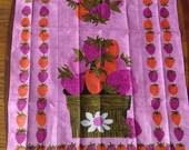 Reserve for Cherry - Strawberry Linen Tea Towel Vintage