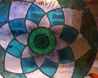 Circular stained glass  panel