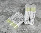 Lip Butter/COCONUT MILK & PEACHES/lip balm/lips/unsweetened/chapstick/lipstick/gift for women/skin care/lip balm favors/lips/lip care/favors