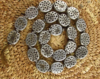 Antique Silver Indian Beads