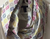 Colorful Infinity Scarf - Cotton Infinity Scarf - Monogrammed Scarves - Infinity Scarf - Extra Long Infinity Scarf - Monogram Infinity Scarf