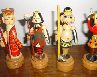 Vintage Chinese wooden figurines