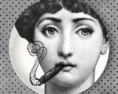 Cavalieri melamine plate, Smokes