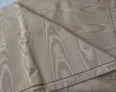 """RESERVED for Mary - Solid Light Brown Gold Moire Fabric Yardage - 48"""" x 106"""" total"""