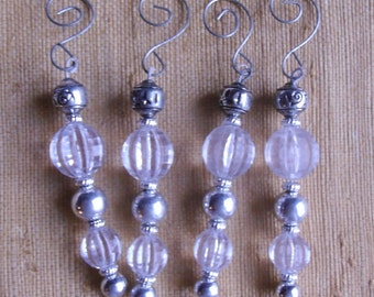 Vintage Ornaments - Acrylic and Metal Beaded Icicles, Beaded Pendulums Ornaments, 5 Choices
