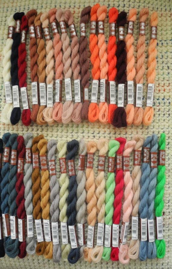 DMC Medici Wool - 27.6 yard (25 meter skeins) - Set of 36 colors