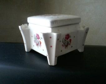 Shabby Chic Square Porcelain Box