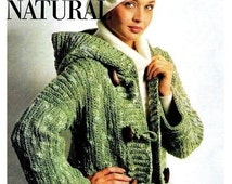 Crochet Pattern, Hooded Coat PDF Pattern, Crochet Jacket Pattern, Crochet Instant Download Pattern