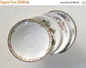 On Sale Vintage Mismatched China Saucers for Weddings  Set of 4  Replacement China Bridal Luncheons Tea Party  Hostess Gift Bridesmaid Gift,