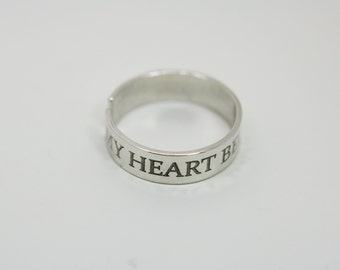 Personalised engraved sizable Sterling silver ring - message ring - Special gift - Best friend ring