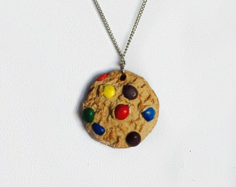 Handmade M&M Cookie Charm Necklace