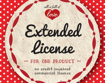 EXTENDED COMMERCIAL LICENSE for One Digital Paper Pack or Clipart Collection - no credit license