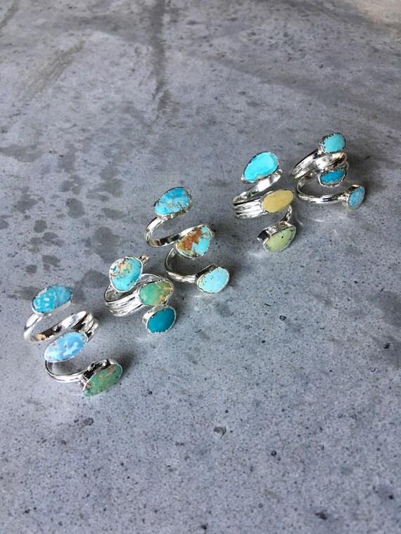 Turquoise rings, boho jewelry, aunt gift, graduation gift