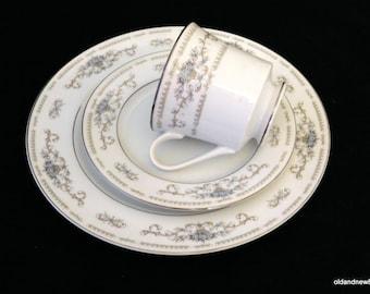 Diana, 3 Piece China Set, Tea Cup, Saucer, Dinner Plate, Japan