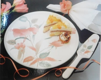 Mikasa Cake Serving Plate with Cake Knife, Cake Plate