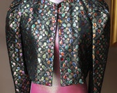 Vintage 80s Sparkly Rhinestone Cropped Jack by Partique