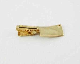 Gold Cleaver Tie Clip - TT085