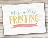 RETURN ADDRESS Printing