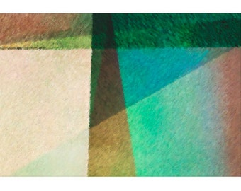Wonderful Abstract Art Print Titled: Abstract Angles