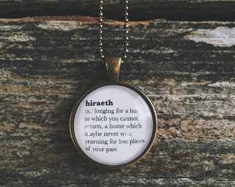 Word Jewelry || Inspirational Word Necklace || Word Pendant || Nostalgic Necklace || Definition Jewelry || Dictionary Pendant || Writer Gift