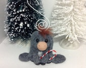 OOAK Nestor the Long Eared Donkey Ornament with candy cane by Aaron Matthies