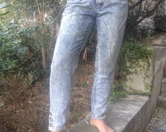 Acid Wash Lee Jeans High Waisted