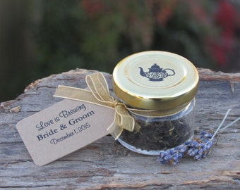 Set of 27 - Tea Favors, Tea Party Favors, Love is Brewing, A Baby is Brewing, Tea Wedding Favors, Bridal Shower Favors, Bridal Tea Favors
